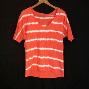 Columbia M orange tie dye T-shirt casual hiking 🥾